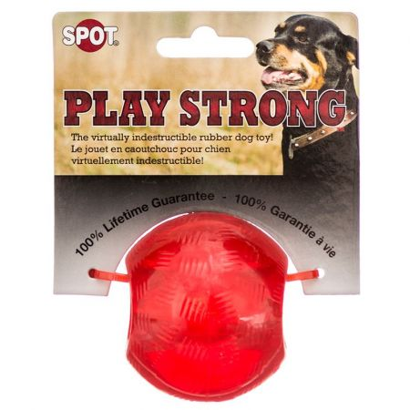 Spot Spot Play Strong Rubber Ball Dog Toy - Red