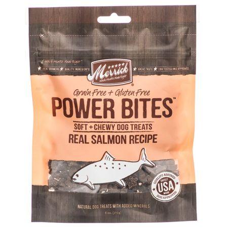 Merrick Power Bites Soft & Chewy Dog Treats - Real Salmon Recipe
