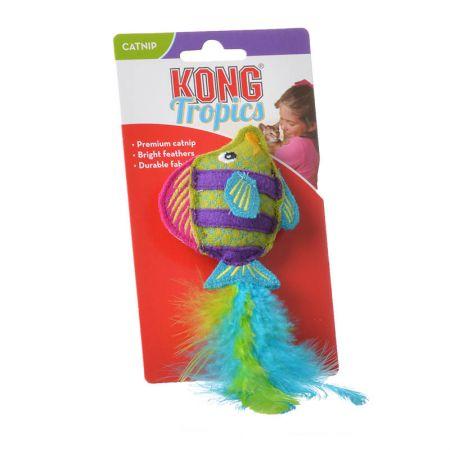 Kong Kong Tropics Catnip Cat Toy - Green Fish