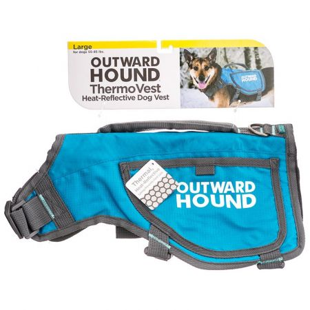 Outward Hound Thermovest Dog Vest - Blue alternate view 3