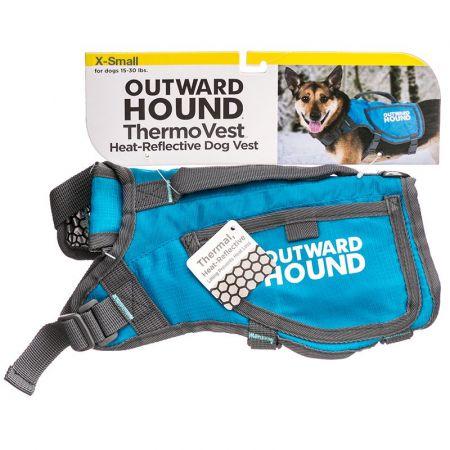 Outward Hound Thermovest Dog Vest - Blue alternate view 1