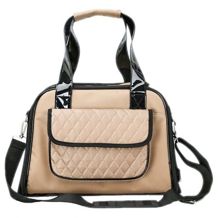 Pet Life Airline Approved Mystique Fashion Pet Carrier - Beige alternate view 1