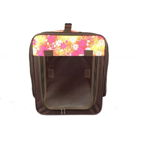 Pet Life Pet Life Folding Collapsible Wire-Framed Pet Crate - Floral