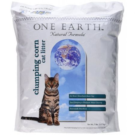 8 in 1 Pet Products One Earth Natural Corn Cobb Clumping Cat Litter