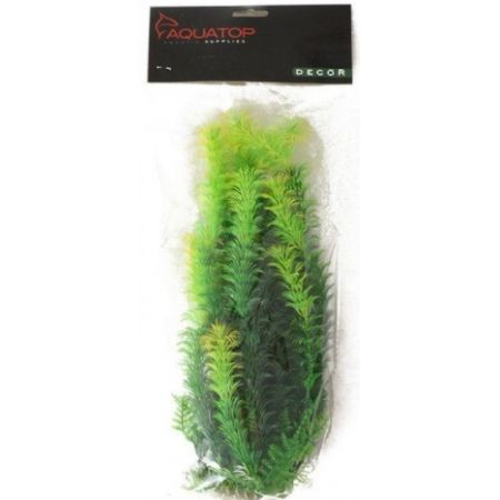 Aquatop Yellow Tipped Aquarium Plant - Green