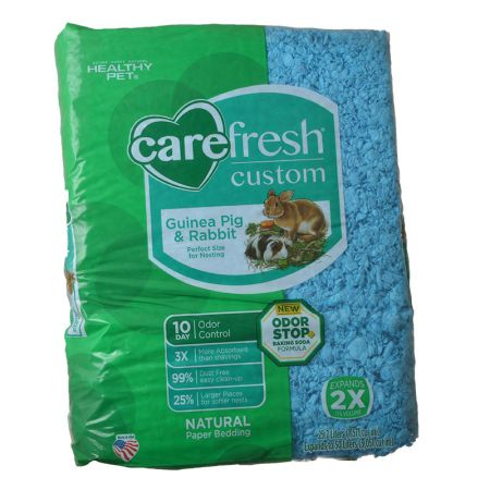 CareFresh Carefresh Custom Guinea Pig & Rabbit Paper Bedding - Blue