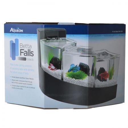 Aqueon Aqueon Betta Falls 3-Level Aquarium Kit - Black