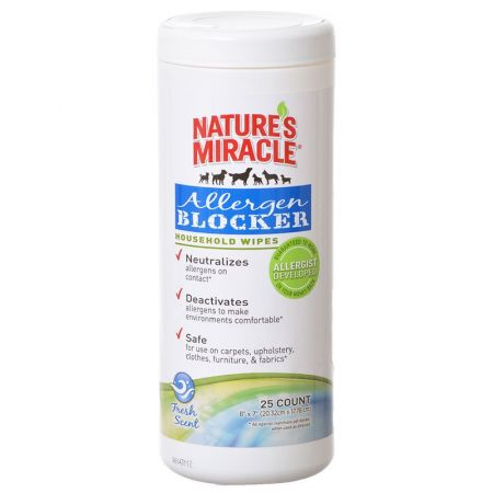 Natures Miracle Nature's Miracle Allergen Blocker Household Wipes