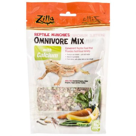 Zilla Zilla Reptile Munchies - Omnivore Mix with Calcium