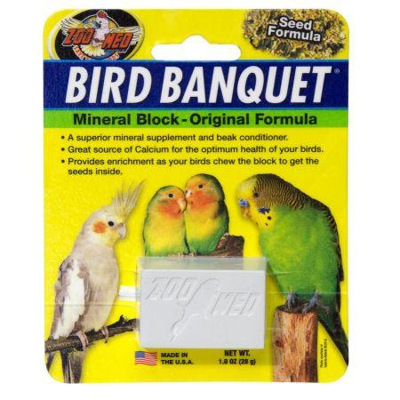 Zoo Med Zoo Med Bird Banquet Mineral Block - Original Seed Formula