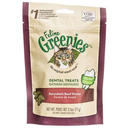 Greenies Greenies Feline Dental Treats - Succulent Beef Flavor