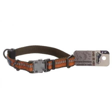 Coastal Pet K9 Explorer Reflective Adjustable Dog Collar - Campfire Orange