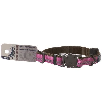 Coastal Pet K9 Explorer Reflective Adjustable Dog Collar - Rosebud