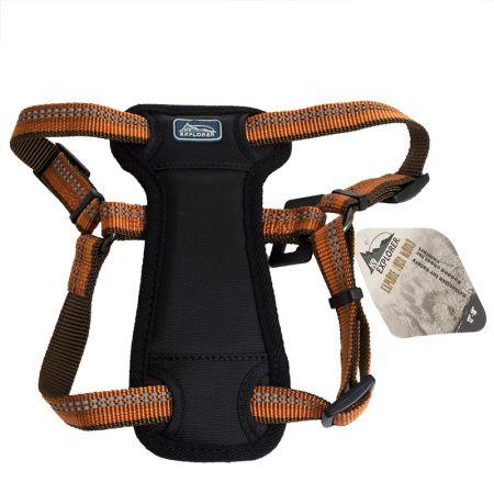 Coastal Pet K9 Explorer Reflective Adjustable Padded Dog Harness - Campfire Orange