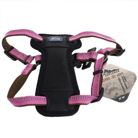 Coastal Pet K9 Explorer Reflective Adjustable Padded Dog Harness - Rosebud