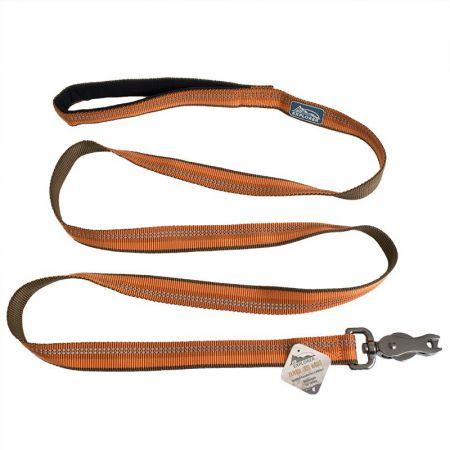 Coastal Pet K9 Explorer Reflective Leash with Scissor Snap - Campfire Orange