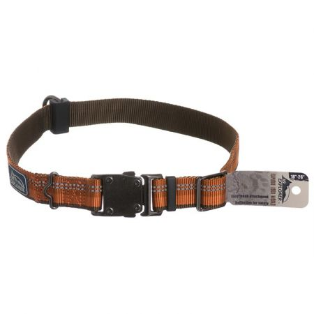 K9 Explorer Reflective Adjustable Dog Collar - Campfire Orange