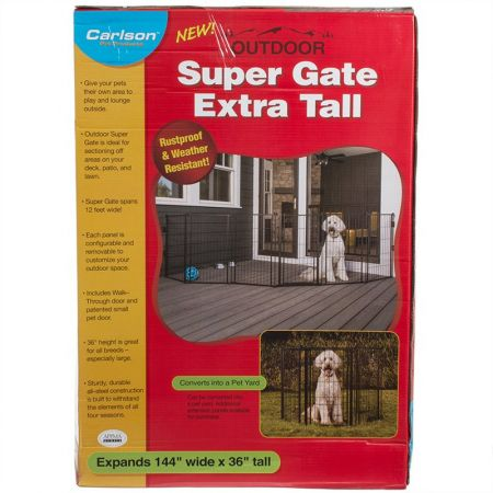 Carlson Pet Gates Carlson Super Gate with Pet Door - Extra Tall