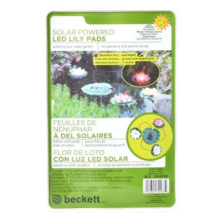 Beckett Solar LED Lily Lights for Ponds alternate view 1