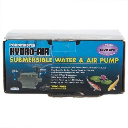 Pondmaster pondmaster hydro air combination air water for Pond pump and filter combined