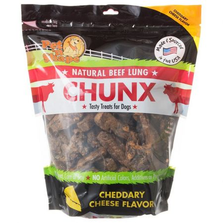 Pet 'n Shape Pet 'n Shape Natural Beef Lung Chunx Dog Treats - Cheddary Cheese Flavor