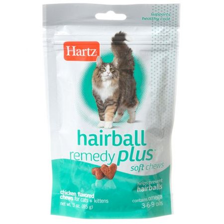 Hartz Hartz Hairball Remedy Plus Cat & Kitten Soft Chews - Savory Chicken Flavor