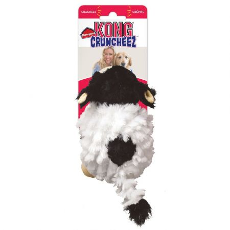 Kong Kong Barnyard Cruncheez Plush Cow Dog Toy