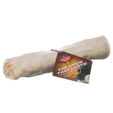 Chunky Chews Chunky Chews Solid Rawhide Natural Roll