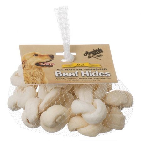 Rawhide Brand Rawhide Brand Eco Friendly Beef Hide Natural Safety-Knot Bones
