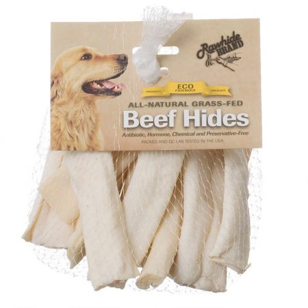 Rawhide Brand Rawhide Brand Eco Friendly Beef Hide Natural Flat Spiral Rolls