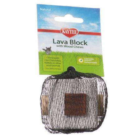 Kaytee Kaytee Natural Lava Block with Wood Chews