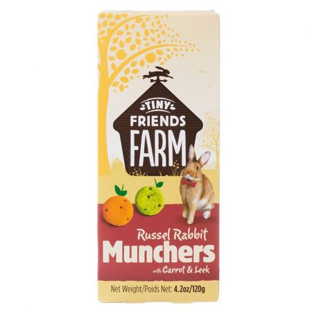 Supreme Pet Foods Tiny Friends Farm Russel Rabbit Munchers with Carrot & Leek
