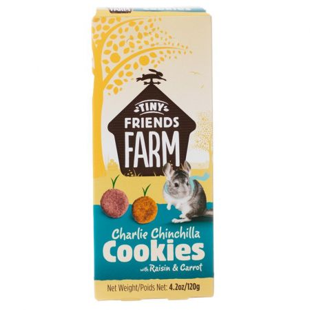 Tiny Friends Farm Charlie Chinchilla Cookies with Raisin & Carrot