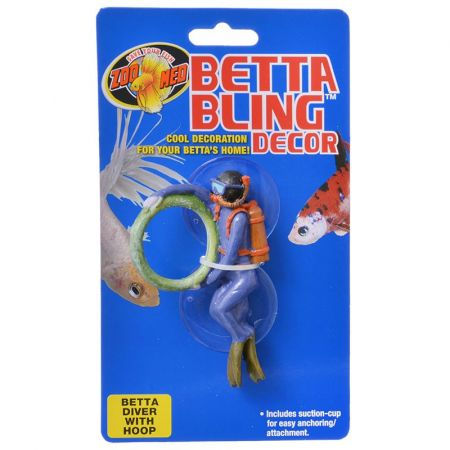 Zoo Med Zoo Med Betta Bling Diver with Hoop Decor