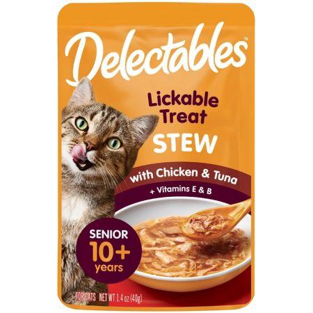Hartz Hartz Delectables Stew Senior Lickable Cat Treats - Chicken & Tuna