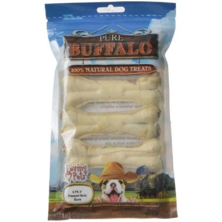 Loving Pets Pure Buffalo Dog Treats - Pressed Bully Bone