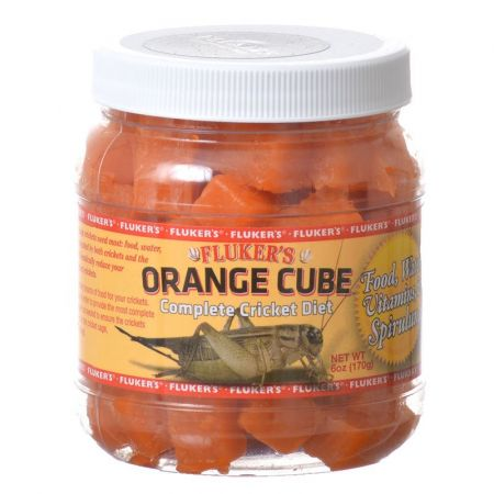 Flukers Flukers Orange Cube Complete Cricket Diet
