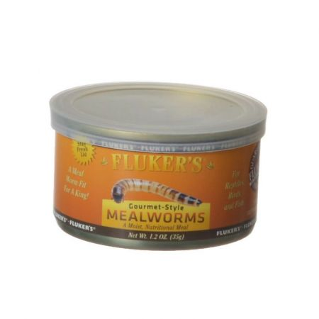 Flukers Gourmet Style Canned Mealworms