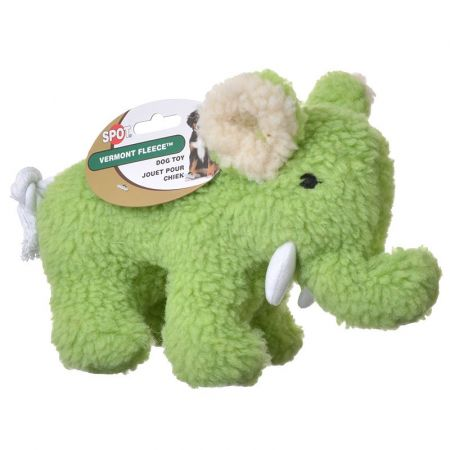 Spot Spot Vermont Fleece Elephant Dog Toy