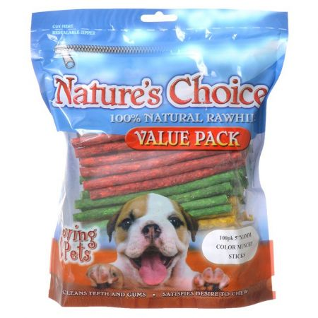Loving Pets Loving Pets Nature's Choice Rawhide Munchy Stick Value Pack