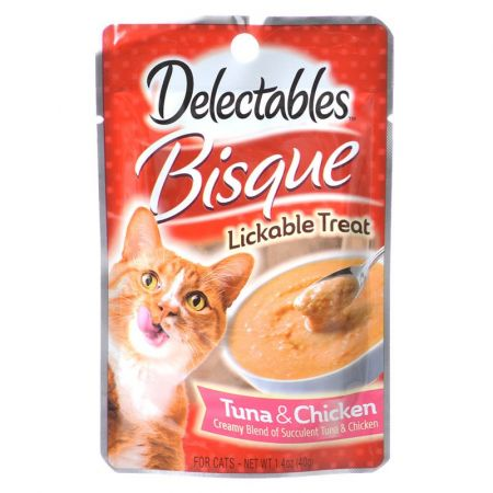 Hartz Hartz Delectables Bisque Lickable Cat Treats - Tuna & Chicken