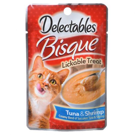 Hartz Hartz Delectables Bisque Lickable Cat Treats - Tuna & Shrimp