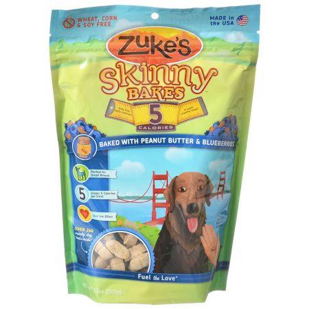 Zukes Zukes Skinny Bakes 5 Calorie Dog Treats - Peanut Butter & Blueberries