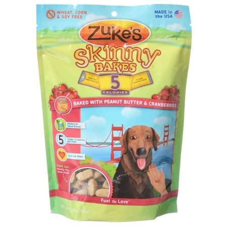 Zukes Zukes Skinny Bakes 5 Calorie Dog Treats - Peanut Butter & Cranberries
