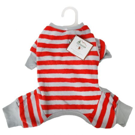 Fashion Pet Lookin' Good Striped Dog Pajamas - Red