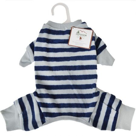 Fashion Pet Lookin' Good Striped Dog Pajamas - Blue