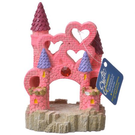 Blue Ribbon Pet Products Exotic Environments Pink Heart Castle Aqiarum Ornament
