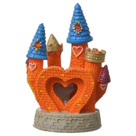 Blue Ribbon Pet Products Exotic Environments Orange Heart Castle Aquarium Ornament