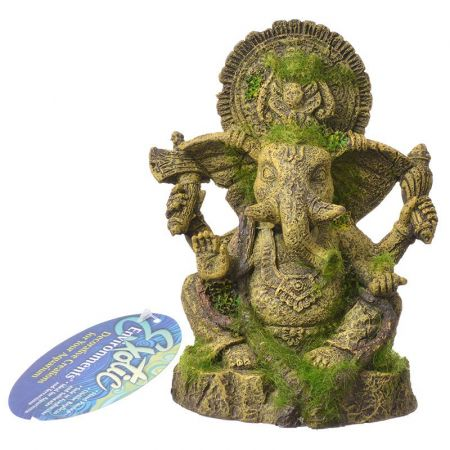 Blue Ribbon Pet Products Exotic Environments Ganesha Statue with Moss Aquarium Ornament
