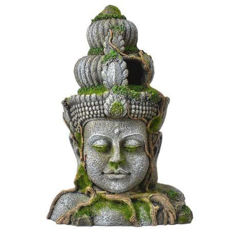 Blue Ribbon Pet Products Exotic Environments Cambodian Warrior Statue with Moss Aquarium Ornament
